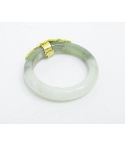 แหวน หยก หน้าทองลงยา ทอง96.5 งานสวยมาก size 53.5 นน. 2.62 g