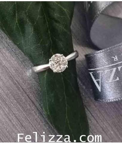 แหวนเพชรแท้เบลเยี่ยมคัท UR0001
