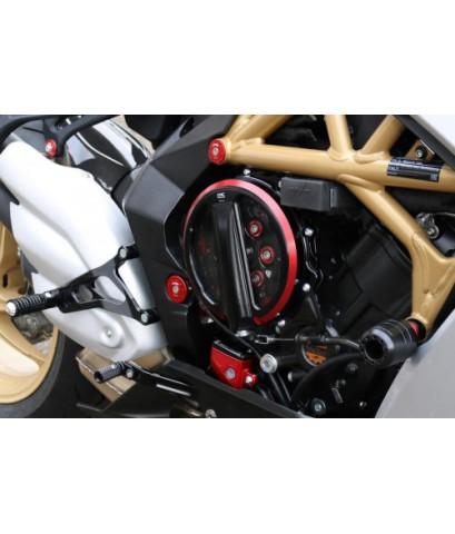 ฝาครอบคลัทช์ใส  CNC Racing สำหรับ Rivale 800 2014-2016  แบบสีทูโทน