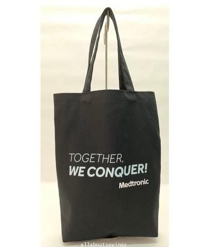 กระเป๋าผ้าเเคนวาส Together we conquer
