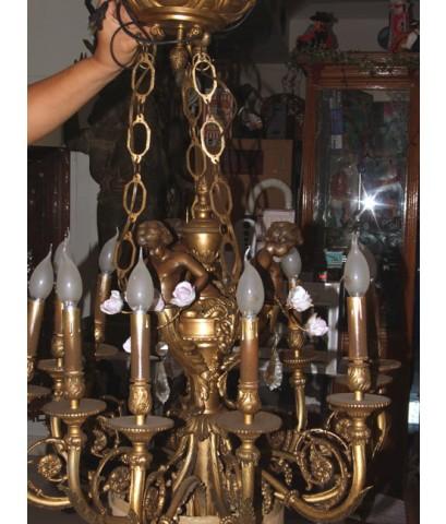 โคมไฟช่อ เทวดา ทองเหลืองอังกฤษ12 ช่อ