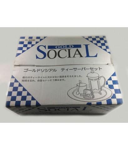 กาชงกาแฟ Gold Social พร้อมอุปกรณ์ จำนวน 1 ชุด