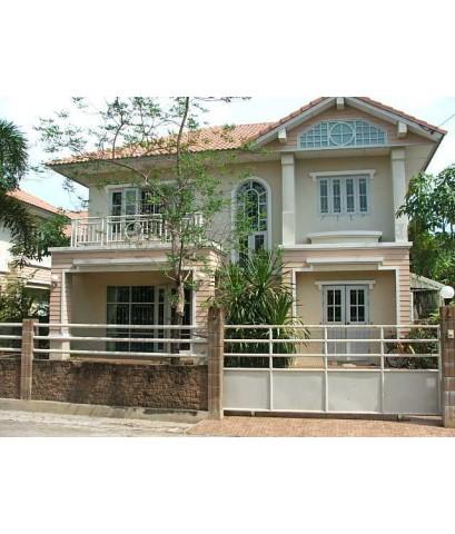 (มีผู้เช่าแล้ว) บ้านสวย ให้เช่าถูกๆ หมู่บ้านคุณาลัย พระราม2 เฟอร์ครบ หิ้วกระเป๋าอยู่ได้เลย บรรยากาศช