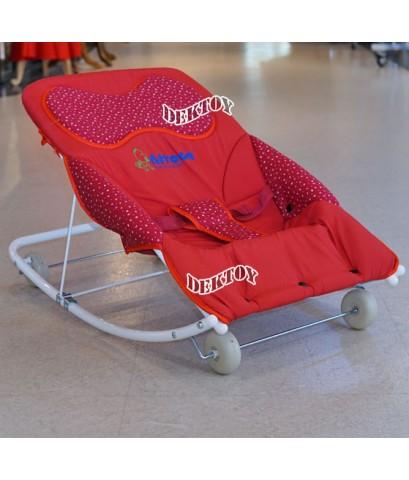 Attoon แอทตูน เปลโยกเด็กแอทตูนหมอนหนุน3 step รุ่น JUMBO ใหญ่พิเศษ สีแดง