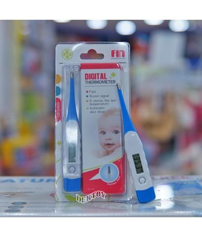 ปรอทวัดไข้เด็กปรอทวัดอุณหภูมิดิจิตอล Fin USE-DT111A สีฟ้า