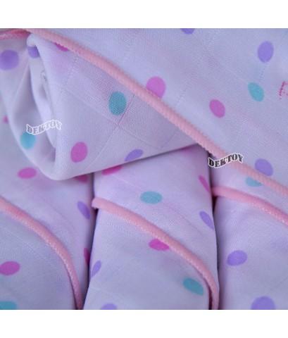 Pureen เพียวรีน ผ้าอ้อมเยื่อไผ่เพียวรีนชมพู 29 x 29 นิ้ว 6 ผืน Organic Bamboo Cloth Diaper