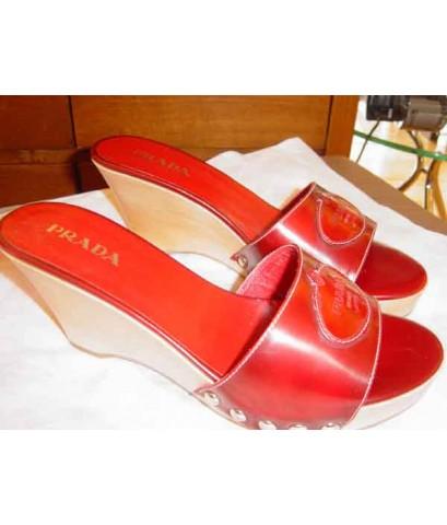 prada  sandal in red