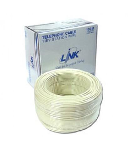 สายโทรศัพท์ LINK UL-1024 [4Cx0.50] (100 เมตร)