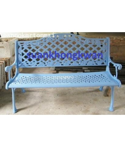 เก้าอี้อัลลอยลายดอกชบาสีฟ้า ชมพู