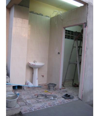 งานสร้างห้องน้ำ