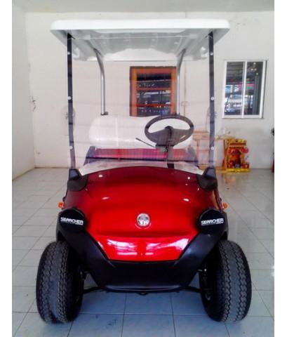 รถกอล์ฟไฟฟ้าโซล่าเซลล์ Cario Bravo 2ที่นั่ง ปี 2009 สีแดง บูรณะใหม่