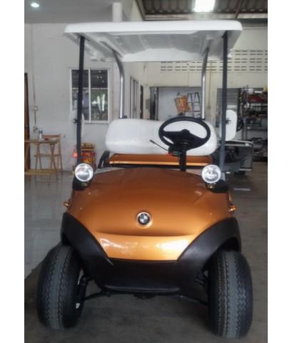 รถกอล์ฟไฟฟ้าโซล่าเซลล์ CARIO BRAVO 2ที่นั่ง ปี 2009 สีทองอำพัน