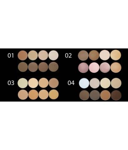 Sivanna highlight  contour pro palette hf7002 คอนทัวร์เฉดดิ้งเนื้อแป้ง 8 โทนสี