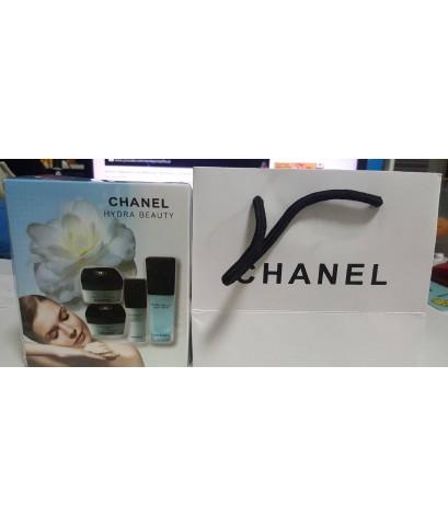 Chanel hydra beauty set 4 pcs. ผลิตภัณฑ์บำรุงผิวเพื่อผิวชุ่มชื้นเปล่งประกาย