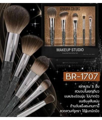 Sivanna colors makeup studio essential faceeye Br-1707 เซตแปรง 5 ชิ้น สวยจบในเซตเดียวขนแปรงอ่อนนุ่ม