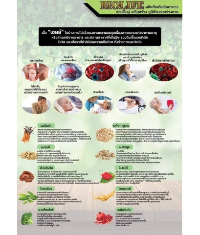 BIOLIFE ผลิตภัณฑ์อาหารเสริม ปรับสมดุลร่างกาย บรรจุกล่อง 30 แคปซูล