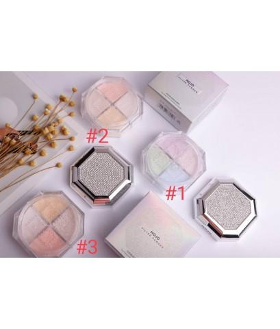 แป้งฝุ่น HOJO natural soft pink flawiess loose powder  4 โทนสีในตลับเพรชสุดหรูหรา