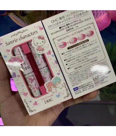 DHC SANRIO Moisturizing Lip Cream Balm My Melody Hello Kitty 2pc ลิปมันแพคคู่