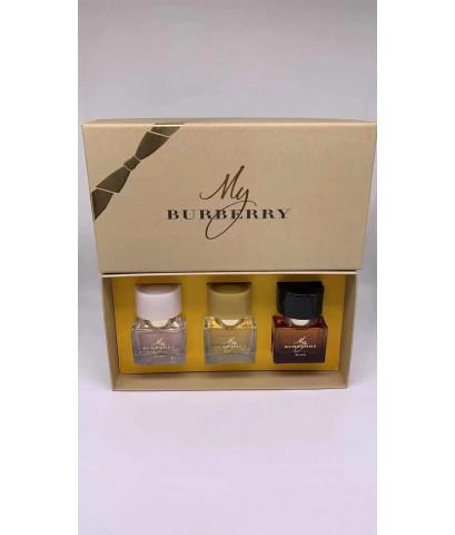 น้ำหอมเทสเตอร์หัวฉีด My Burberry Perfume Collection  กิ๊ฟเซ็ท 30ml.×3ชิ้นแพคกล่องของขวัญสวยหรู