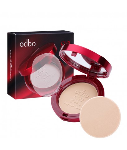 ODBO saxy rad series powder แป้งผสมรองพื้นเนื้อเนียนละเอียด ตลับสีแดงสวยหรูหรา