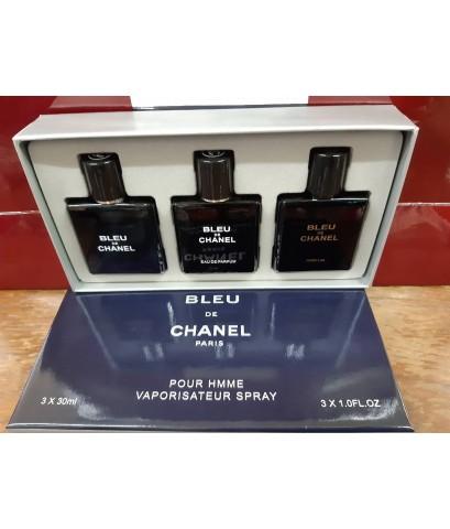 น้ำหอมเทสเตอร์พกพาหัวสเปรย์ Chanel Bleu pour hmme viporisateur spary  30 ml.×3 ชิ้น สินค้าจริงตามภาพ