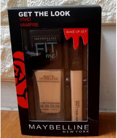 Maybelline Vivid Vampire - Fit Me + Poreless Maybelline Set 2in1 Foundation  Concealer