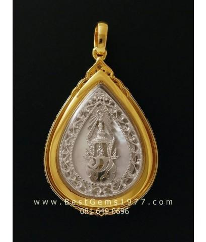 M646-1538 พระพุทธชินราช เพราะแผ่นดินนี้คือแผ่นดินเกิด เงินชุบ 3กษัตริย์