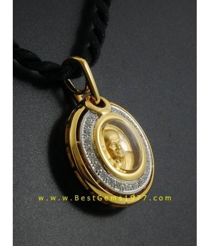 0180304B_D กรอบสั่งทำ สำหรับบรรจุเหรียญหลวงปู่ศุข ล้อมเพชร