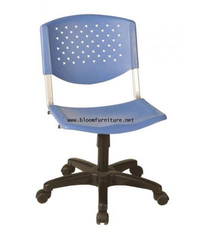 เก้าอี้สำนักงานมีล้อ ที่นั่งและหลังพิงพลาสติก รุ่น VC636