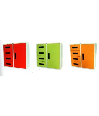 ตู้เหล็ก 1 บานเปิด+4ลิ้นชักเก็บเอกสาร
