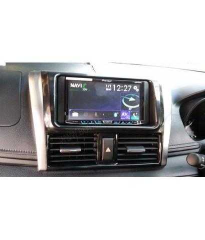 toyota yaris2014 ติดเต็มชุด เครื่องเสียงรถยนต์ Pioneer avh-x8650bt,gps speednavi,digital tv zeason