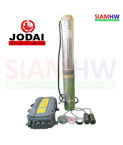 JODAI 4LSC15.5/70-192/1500 ปั๊มน้ำบาดาล AC/DC (สวิทช์) 192V 1500W(6แผง) 15.5Q บ่อ4 ออก2นิ้ว H.Max70m