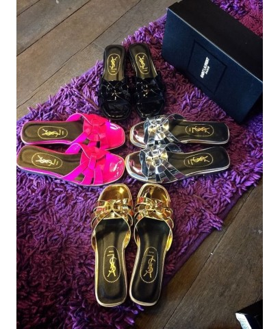 Yves Saint Laurent Flat Sandal Shoe
