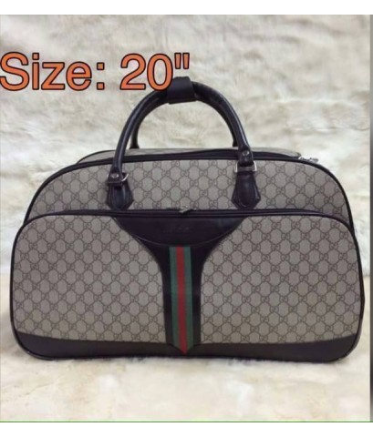 Gucci suitcase luggage rolling travel bag 20 นิ้ว