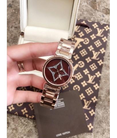 นาฬิกาหลุยส์ Louis Vuitton น้ำตาล