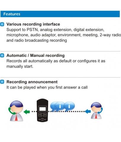 เครื่องบันทึกเสียงโทรศัพท์ ARTECH Duet เป็นระบบเครื่องตอบรับโทรศัพท์ Answering