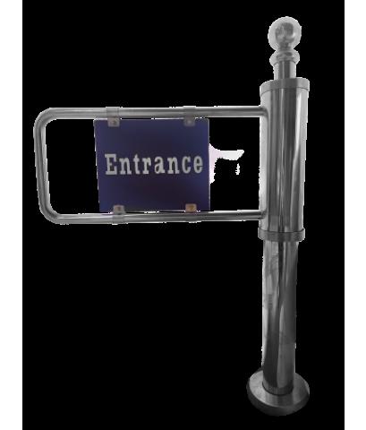ประตูกั้นทางเข้าออก แบบสวิง ไม่ใช้ไฟฟ้า Swing gate single manual turnstile