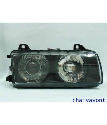 ไฟหน้าขวาทั้งดวง รถบีเอ็มดับบลิว BMW E36 316i 318i 320i 325i 328i M40 M43 M50 M52 Series 3