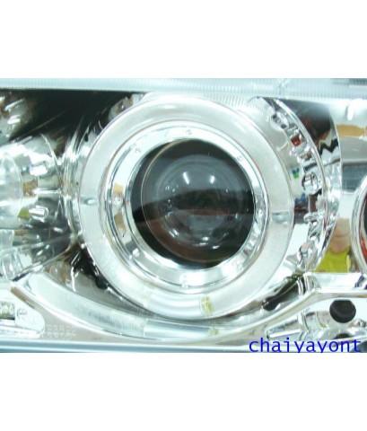 ชุดแต่งรถ ไฟหน้าวงแหวนโครเมี่ยม LH Projector บีเอ็ม BMW E36 316i 318i 320i 325i  M40 M43 M50 Series3