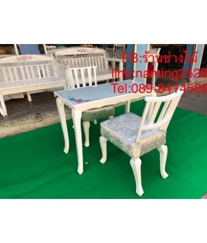 โต๊ะเพ้นเล็บ โต๊ะทำเล็บเจล โต๊ะทำงานสไตล์วินเทจ โต๊ะเอนกประสงค์ ราคาถูกจากโรงงาน