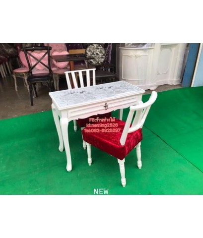 โต๊ะเพ้นเล็บ โต๊ะทำงานสไตล์วินเทจ โต๊ะเอนกประสงค์ ราคาถูกจากโรงงาน
