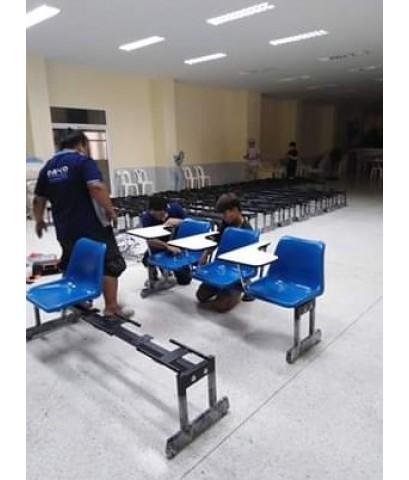 เก้าอี้เลคเชอร์แถวโพลีโพพิลีน 3 ที่นั่ง CR-28-3