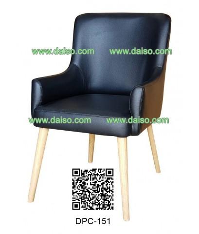 เก้าอี้หุ้มเบาะหนัง เก้าอี้ทานอาหารหุ้มเบาะขาไม้ DPC-151