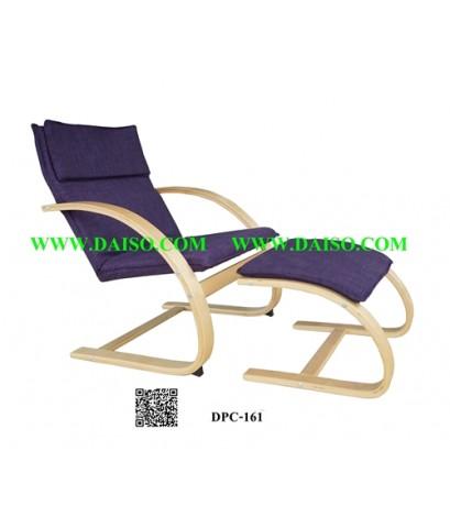 เก้าอี้นั่งพักผ่อน โครงไม้ เบาะผ้า DPC-161