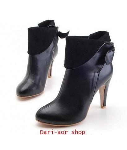 รองเท้าบูท แฟชั่นเกาหลี สีดำ size 38