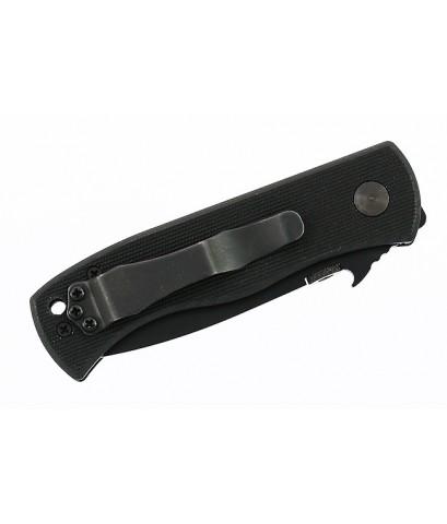 มีดพับ Emerson Mini CQC-7BW Folding Knife Black Plain Tanto Blade, Black G10 Handles (MC7BW-BT)