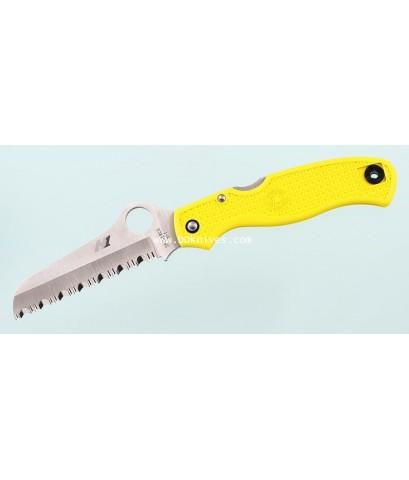 มีดพับ Spyderco Atlantic Salt H1 Serrated Rescue Blade, Yellow FRN Handles (C89SYL)