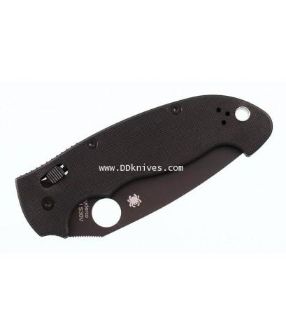 มีดพับ Spyderco Manix2 XL S30V Black Plain Blade, Black G10 Handles (C95GPBBK2)