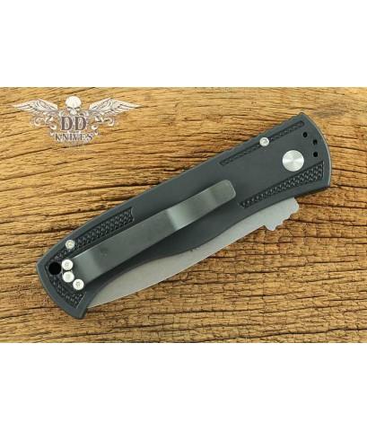 มีดออโต้ Emerson Pro-tech CQC-7 Auto Tanto Knife w/ Knurl Handle, Stonewash Plain (E7T07-SW)