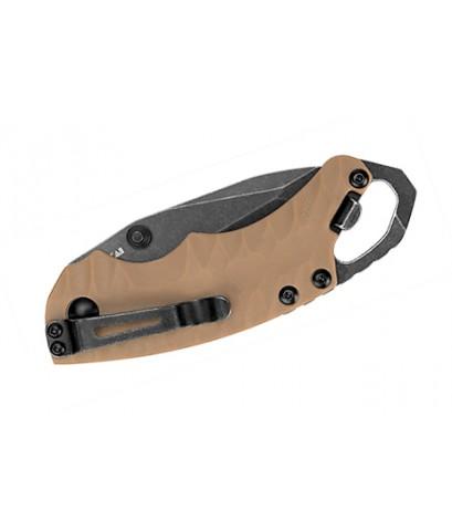 มีดพับ Kershaw Shuffle II Multi- Function Blackwash Plain Blade, Tan Handles (8750TTANBW)